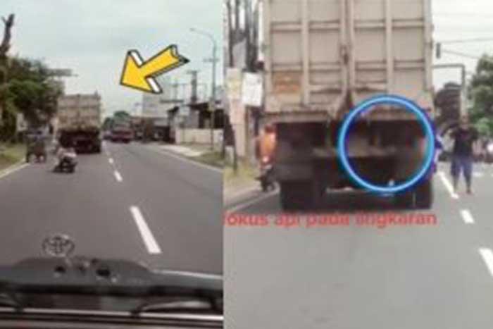 英雄的举动令人佩服!一名妇人拯救即将要着火的卡车司机