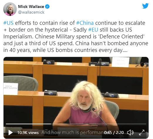 挺华欧洲议员再发声:中国40年没轰炸过任何人