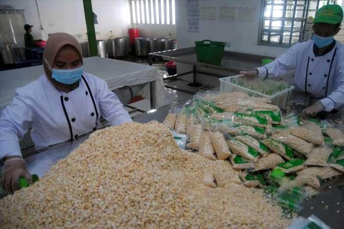 本地传统食品天贝/丹贝(Tempe/一种豆类发酵食品)出口到日本