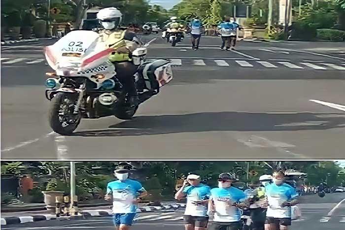 县警察局长跑步竟有巡警护驾,巴厘岛地区警察局长这么说