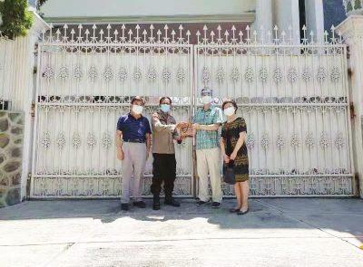 中国驻泗水副总领事来丹会见 东爪哇省警察局重点目标保护处新任处长